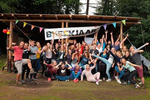 Tussenjaar deelnemers van Breekjaar bij het kamp